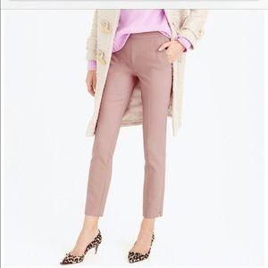 J Crew Martie Cropped Wool Blend Pant Mauve Pink 0